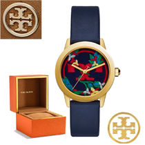 特別価格! Tory Burch GIGI WATCH BLUE LEATHER/GOLD  TBW2012