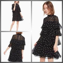 送料関税込・追跡付*kate spade*heartbeat embroidered dress