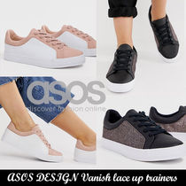 ASOS 厚底スニーカー◆ASOS Wide Fit Vanish lace up trainers