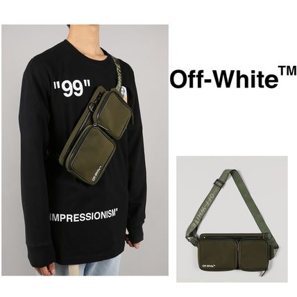 OFF WHITE ヒップバッグ MILITARY GREEN WHITE 国内発