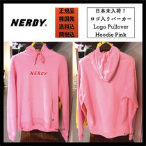 【NERDY】関税込/ロゴパーカー/Logo Pullover Hoodie Pink