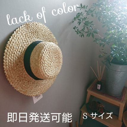 lack of color ストローハット 新作人気ラックオブカラー麦わら帽子ストローハットblackリボン