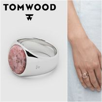 国内発送★TOM WOOD★Oval Pink Rhodoniteリング