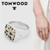 国内発送★TOM WOOD★Cushion Leopard Jasperリング