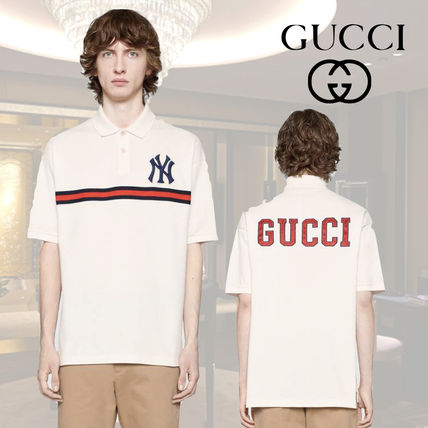 e249d7ed2db GUCCI ポロシャツ 新作【GUCCI】Men's polo with NY Yankees patch ...
