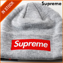 【即発】SUPREME NEW ERA BOX LOGO BEANIE HEATHER GREY FREE