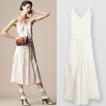 19SS C398 LOOK3 SATIN CREPE SLIP DRESS WITH WAVY DETAIL