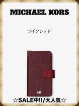 【SALE!! 】MICHAEL KORS Leather 手帳型 iPhone Xケース