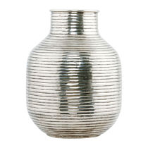 【House Doctor】北欧デンマーク☆Vertical Brass Vase - Silver