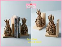 最安値*関送料込【Anthro】Driftwood Pineapple Bookends 2点SET