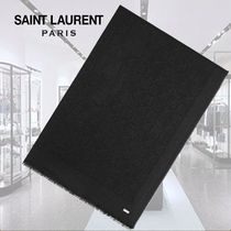 **SAINT LAURENT**STOLE WITH Y, S, L PRINT WOOL AND SILK