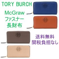 【送料関税負担なし】【Tory Burch】T-logo zip around wallet
