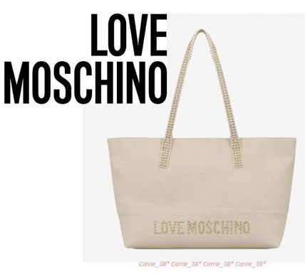 LOVE MOSCHINO〓SALE〓Leather Tote Bag*レザートート