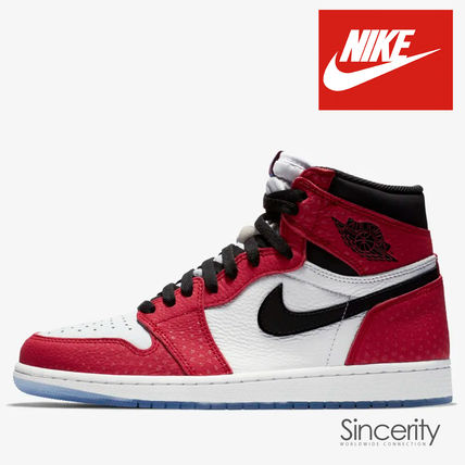NIKE 555088-602 AIR JORDAN 1 RETRO HIGH OG SPIDER-MAN / 13.0