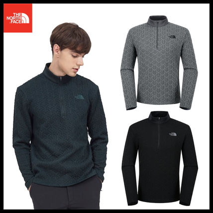THE NORTH FACE Tシャツ・カットソー 【THE NORTH FACE】M'S CASSIOPEIA L/S ZIP TEE★日本未入荷★