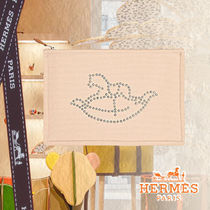 ◆HERMES◆GIFTにも Baby Cheval a Bascule フラットポーチ 28cm