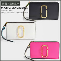 【MARC JACOBS】 COMPACT WALLET ミニウォレット 黒/白/ピンク