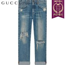 【正規品保証】GUCCI★19春夏★JEANS WITH EMBROIDERED RIBBON