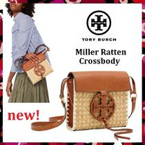 559de1ef5a 新色 セール Tory Burch Miller Ratten Cross-Body カゴ バッグ