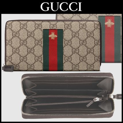 ☆GUCCIグッチ☆ジップ長財布/Web GG Supreme zip around wallet