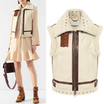 19SS C422 SHEARLING GILET WITH EYELET DETAIL