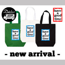 have a good time(ハブアグットタイム) トートバッグ have a good time*男女兼用*Blue Frame Tote Bag YA253
