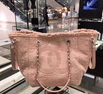 2019 大人気アイテム再入荷★CHANEL★BIg CC FABRIC TOTE Pink