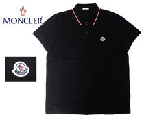 ★SALE【国内発送】MONCLER★MAGLIA ポロシャツ/コットンNAVY 黒