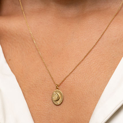 MEJURI ネックレス・ペンダント MEJURI メジュリ ネックレス Moon Necklace Gold Vermeil ムーン(6)