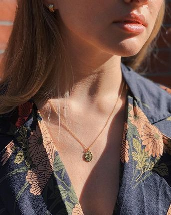 MEJURI ネックレス・ペンダント MEJURI メジュリ ネックレス Moon Necklace Gold Vermeil ムーン(14)