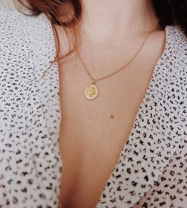 MEJURI ネックレス・ペンダント MEJURI メジュリ ネックレス Moon Necklace Gold Vermeil ムーン(19)