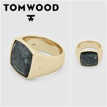 国内発送★TOM WOOD★Cushion Gold Green Marbleリング