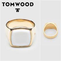 国内発送★TOM WOOD★Cushion Gold White Agateリング
