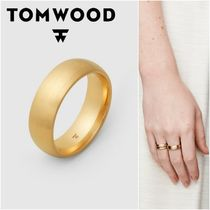 国内発送★TOM WOOD★Classic Band Gold L Satinリング