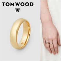 国内発送★TOM WOOD★Classic Band Gold L Polishedリング