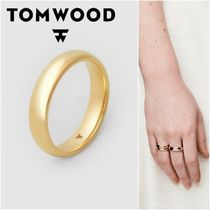 国内発送★TOM WOOD★Classic Band Gold M Polishedリング