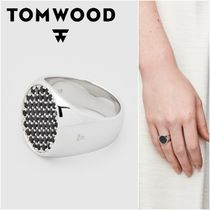 国内発送★TOM WOOD★Pinkie Oval Black Spinelリング