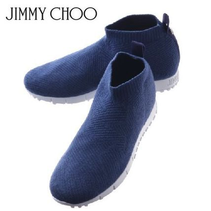 fc9d490b62c0 Jimmy Choo スニーカー 19SS ☆JIMMY CHOO☆ NORWAY M Knit and Lurex Trainers BLUE ...