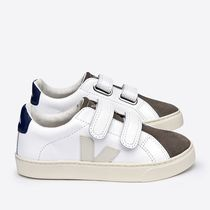 "VEJA(ヴェジャ) キッズスニーカー ""VEJA KIDS"" ESPLAR LEATHER WHITE MOONROCK"