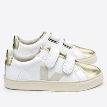 "VEJA(ヴェジャ) キッズスニーカー ""VEJA KIDS"" ESPLAR LEATHER WHITE GOLD"