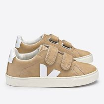 "VEJA(ヴェジャ) キッズスニーカー ""VEJA KIDS"" ESPLAR LEATHER DESERT WHITE"