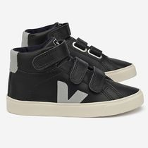 "VEJA(ヴェジャ) キッズスニーカー ""VEJA KIDS"" ESPLAR MID LEATHER BLACK GREY"