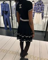 2019 CHANEL S/S Act 1.★LOOK 42 SHORT SKIRT in blk or white