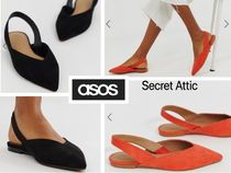 国内発送&2色から★ASOS Leisure High Vamp Slingbacks
