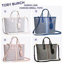 ★TORY BURCH★新作トート(スモール) GEMINI LINK CANVAS SMALL TOTE