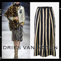 【Dries Van Noten】Striped Midi Skirt FR42