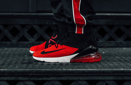 low priced 37a90 aead8 ナイキ☆ Nike AIR MAX 270 Flyknit 'Bred' Running Shoes