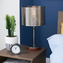 PB Teen Perforated Shade Table Lamp with USB テーブルランプ