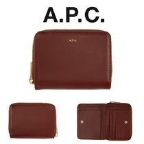 A.P.C. レッド Emmanuelle コンパクト ウォレット *国内発送*