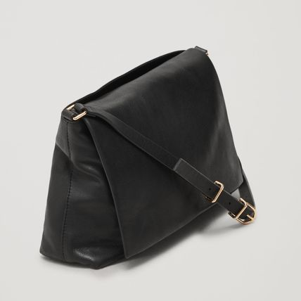 "10d0cf8e879f ... COS ショルダーバッグ・ポシェット ""COS"" SMALL SOFT-LEATHER SHOULDER BAG GRAY( ..."